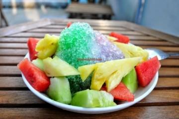 Cách làm món đá bào trái cây từ 7-up