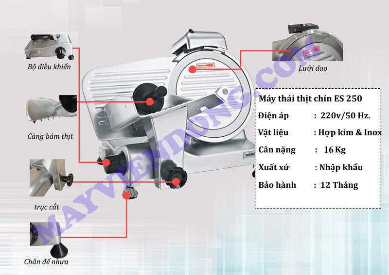 Máy thái thịt chín ES-250 23