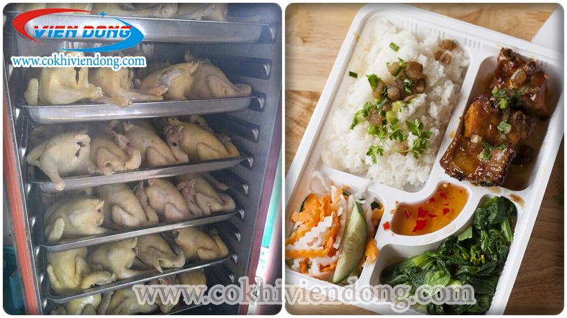 Tủ nấu cơm gà - hoạt động hiệu quả, năng suất cao