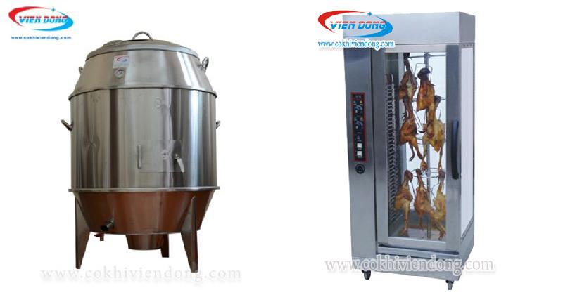 Lò quay vịt dùng than, gas và điện
