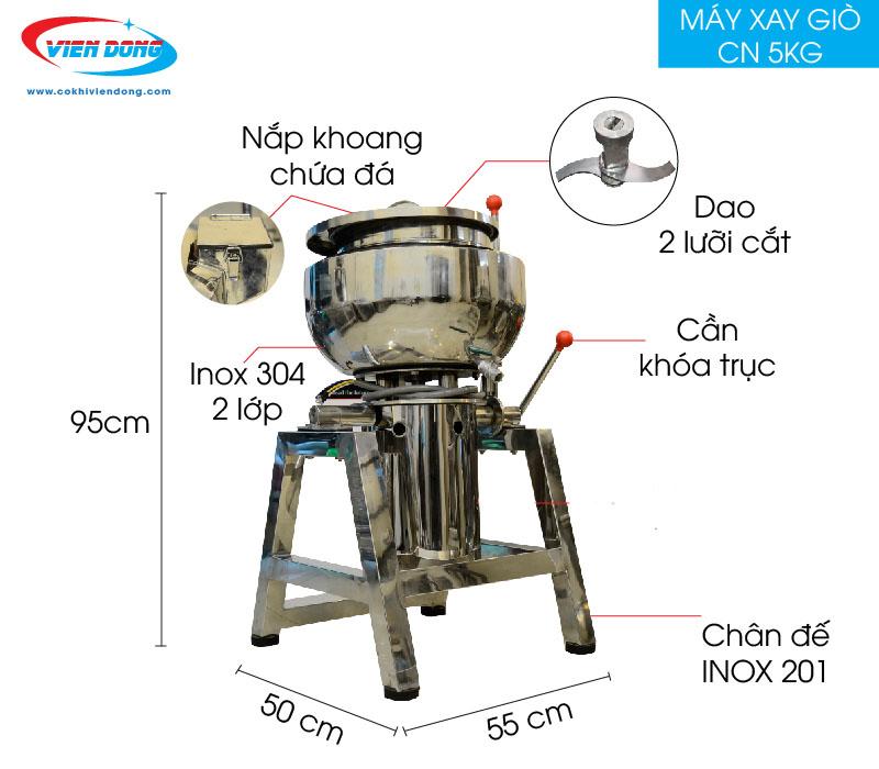 máy làm chả cá 5kg Viễn Đông