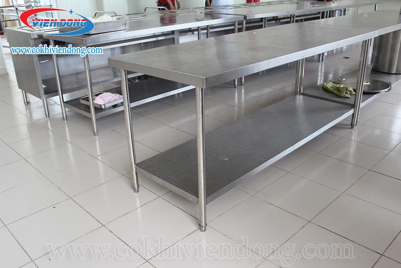 bàn bếp inox 2 tầng