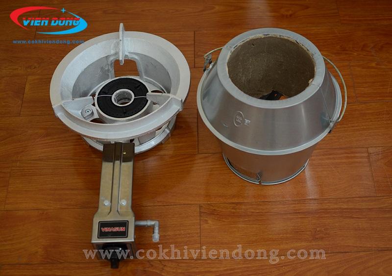 Bếp quay vịt bằng than và gas